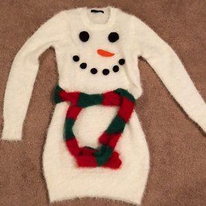 Snowman Ugly Sweater Dress